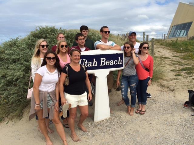 Group at Utah Beach
